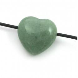 Herz gebohrt Aventurinquarz grün 20 mm