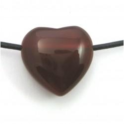 Herz gebohrt Carneol (erhitzt) 20 mm