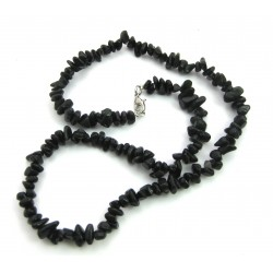 Splitterkette Obsidian schwarz 45 cm