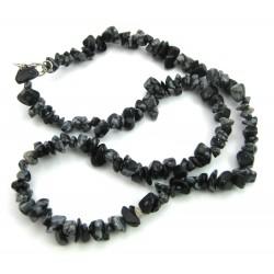 Splitterkette Obsidian Schneeflocke 45 cm