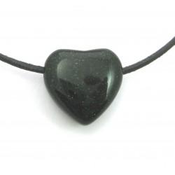 Herz gebohrt Grünfluss (Kunstglas) 20 mm