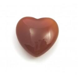 Herz Carneol (erhitzt) 30 mm