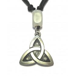 Zinn-Amulett Dreiecksknoten