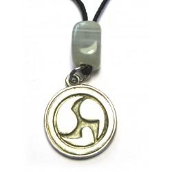 Zinn-Amulett Mitsu Domo