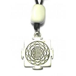 Zinn-Amulett Shri Yantra