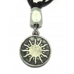 Zinn-Amulett Sonnenscheibe