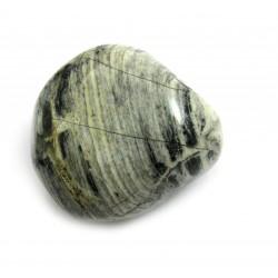 Trommelstein Jaspis Silver Leaf 1 Stück