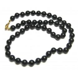 Kugel-Kette Obsidian Lamellen- 8/50