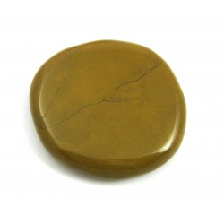 Scheibenstein Jaspis gelb 1 Stück