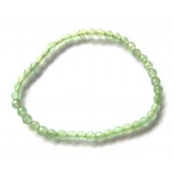 Kugel-Armband Aventurinquarz grün facettiert 4 mm