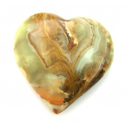Herz Aragonit-Calcit grün-braun 10 cm