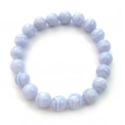 Kugel-Armband Chalcedon blau 10 mm
