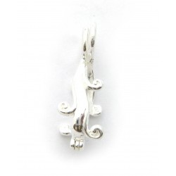 Scharnier Clip 40 mm Wasserfall 925er Silber