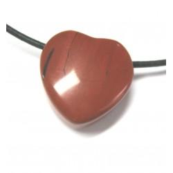 Herz gebohrt Jaspis rot 20 mm