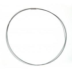 Stahlreif schwarz 2 mm 45 cm mehrere dünne Kordeln