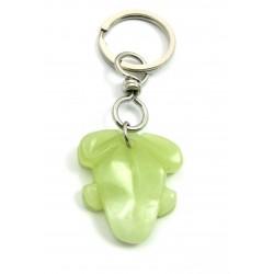 Schlüsselanhänger Frosch Serpentin grün