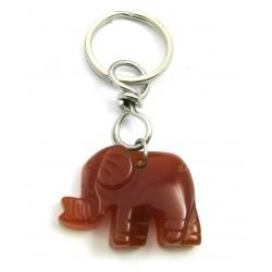 Schlüsselanhänger Elefant Carneol (erhitzt)