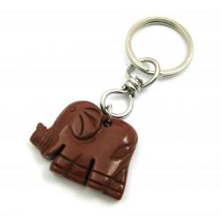 Schlüsselanhänger Elefant Jaspis rot