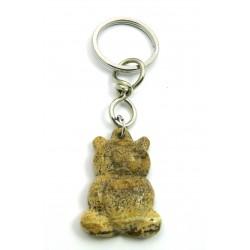 Schlüsselanhänger Teddy Jaspis Marmor Landschafts-