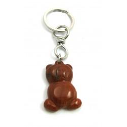 Schlüsselanhänger Teddy Jaspis rot