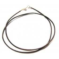 Lederband mit Messingverschluß dunkelbraun 50 cm