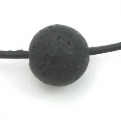 Kugel Lava gebohrt 16 mm