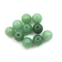 Kugel Aventurinquarz grün gebohrt 10 mm VE 10 Stück