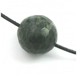 Kugel Chloritquarz facettiert gebohrt 20 mm