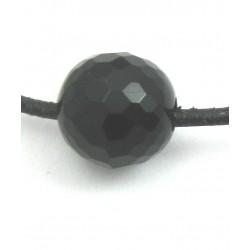 Kugel Onyx (gefärbt) facettiert gebohrt 12 mm