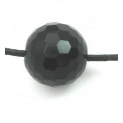 Kugel Onyx (gefärbt) facettiert gebohrt 16 mm