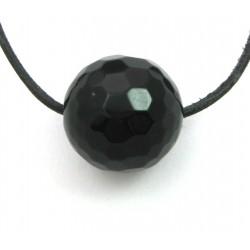 Kugel Onyx (gefärbt) facettiert gebohrt 20 mm