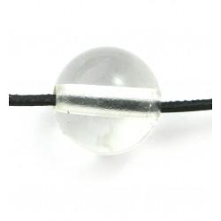 Kugel Bergkristall gebohrt 16 mm