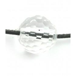 Kugel Bergkristall facettiert gebohrt 16 mm