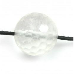 Kugel Bergkristall facettiert gebohrt 20 mm