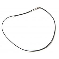 Lederband mit Messingverschluß schwarz 50 cm