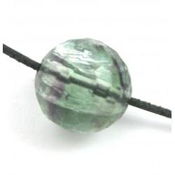 Kugel Fluorit facettiert gebohrt 16 mm