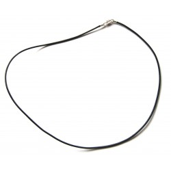 Lederband mit Messingverschluß schwarz 45 cm