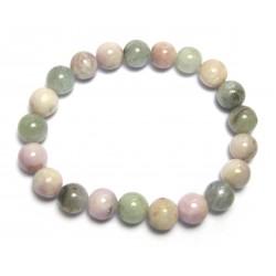 Kugel-Armband Beryll rosa-grün-blau 8 mm
