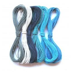 Baumwoll Bänder Mischung Meeresrauschen 2 mm VE 30 m