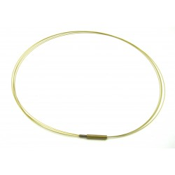Stahlreif gold 2 mm 45 cm mehrere dünne Kordeln