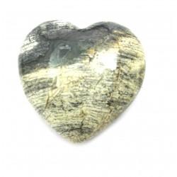 Herz Jaspis Silver Leaf 30 mm
