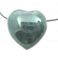 Herz gebohrt Heliotrop 30 mm