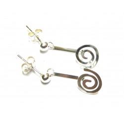 Spiral-Ohrhänger für Mini-Donut Silber 15 mm