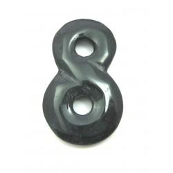 Anhänger Unendlichkeit 4 cm Onyx (gefärbt)