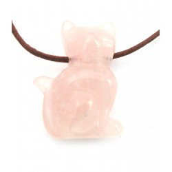 Katze gebohrt 2,5 cm Rosenquarz