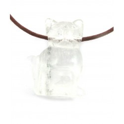 Katze gebohrt 2,5 cm Bergkristall