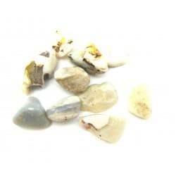 Trommelstein Opal weiß Mini 100 g