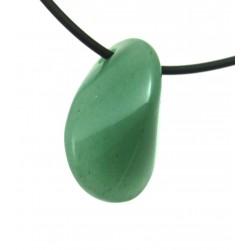 Lebensstein gebohrt 2 cm Aventurinquarz grün