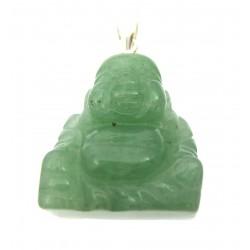 Buddha 2 cm  Silberöse Aventurinquarz grün