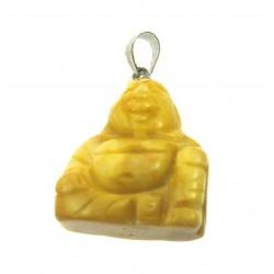 Buddha 2 cm  Metallöse Serpentin gelb